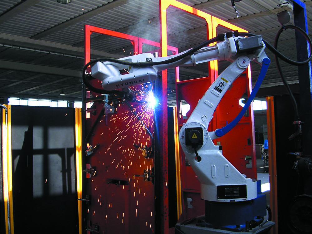 robot saldatore ponteggio