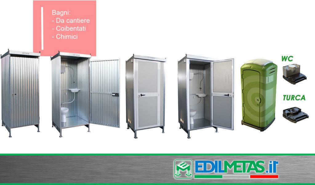 Monoblocchi container prefabbricati coibentati modulari personalizzabili - Bagni chimici da cantiere prezzi ...