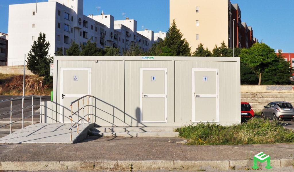 bagni pubblici prefabbricati