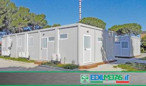 Campo da lavoro modulare in strutture prefabbricate metalliche e pannelli coibentati
