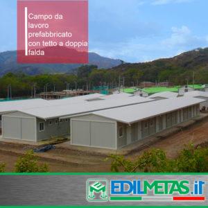 Uffici e alloggi campi da lavoro prefabbricati, laboratori. Monoblocchi accoppiati.