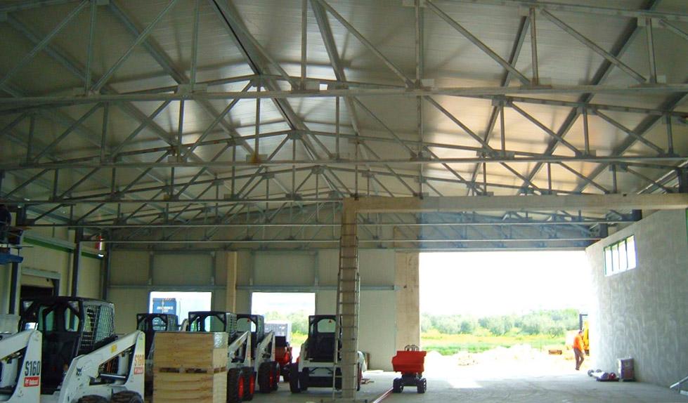 struttura capannone prefabbricata
