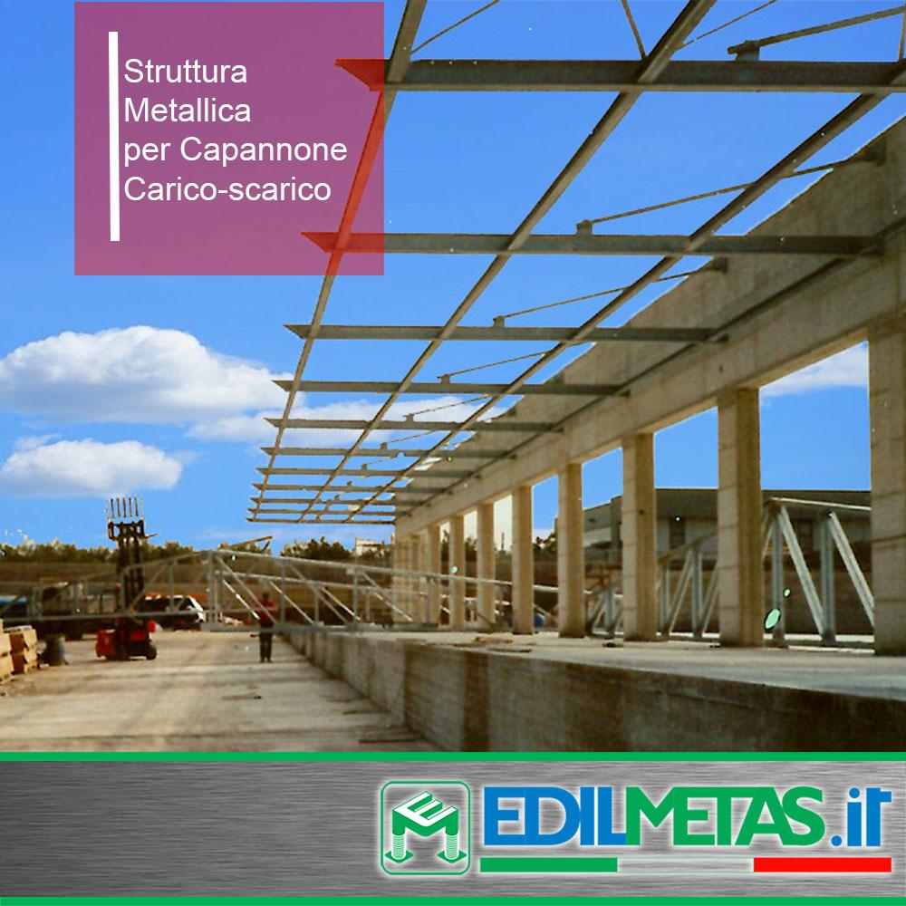 struttura metallica per capannone carico-scarico merci