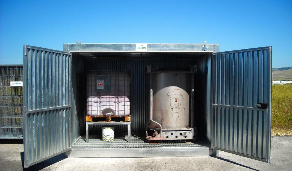 container per stoccaggio rifiuti e liquidi pericolosi