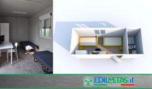 Container uso alloggio casa prefabbricata coibentata per campo da lavoro o centri di accoglienza