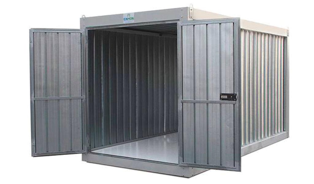 Container Box in Lamiera con pavimento overlay ignifugo