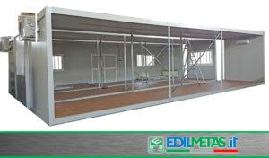 Palestra prefabbricata modulare con monoblocchi da 12 metri