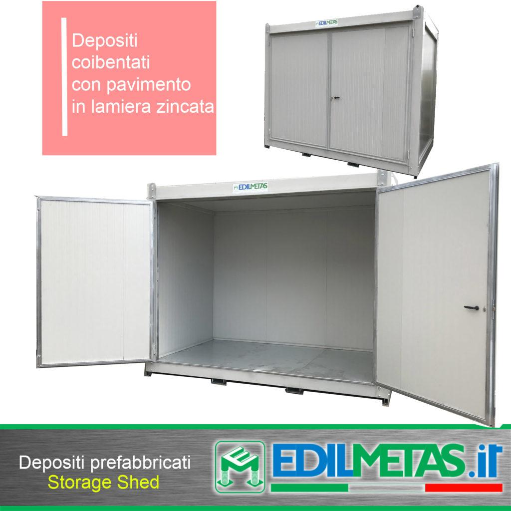 Deposito prefabbricato coibentato per attrezzature e cabine elettriche