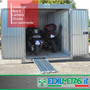 Garage moto lamiera edilmetas s r l edilizia ponteggi for Box garage lamiera