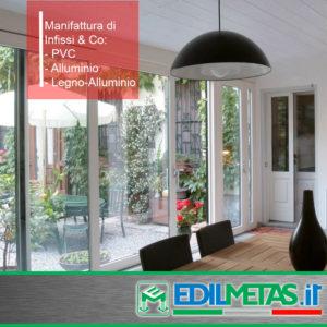 Infissi, porte, coperture e serramenti a Matera. Artigianali, made in Italy. In PVC, legno-alluminio, alluminio.