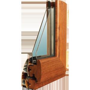 profilo in legno alluminio