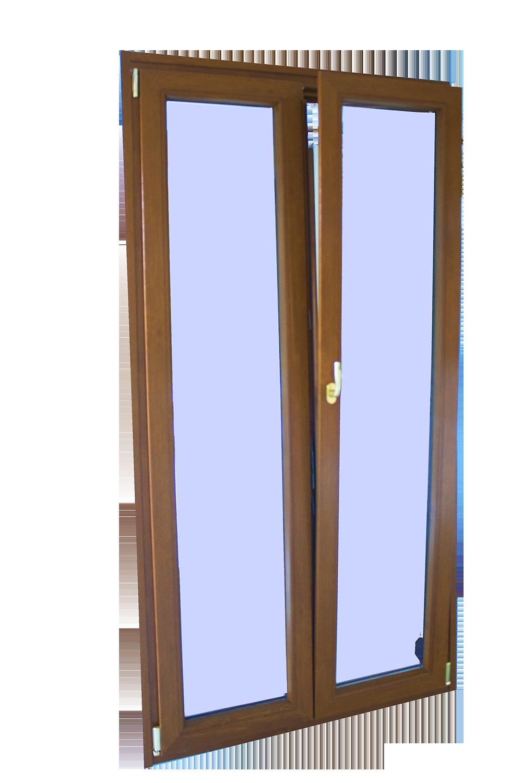 porta finestra in legno pvc rivestito effetto legno