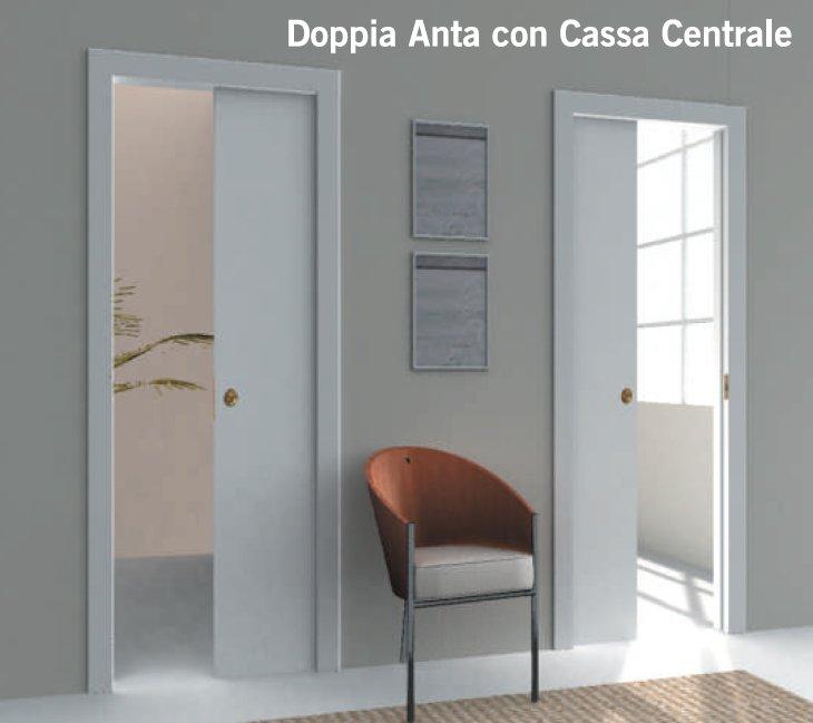 Controtelaio sesamo per porta scorrevole cassa centrale - Porta scorrevole doppia ...