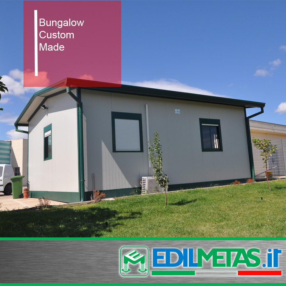 Bungalow Prefabricated house with steel and metal frames