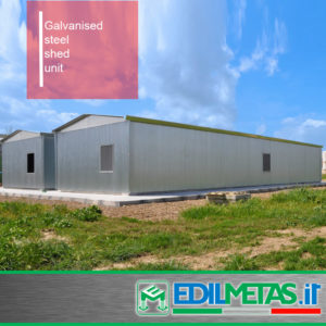 galvanised steel shed unit