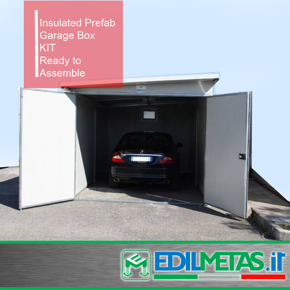 prefabricated office garage insulated