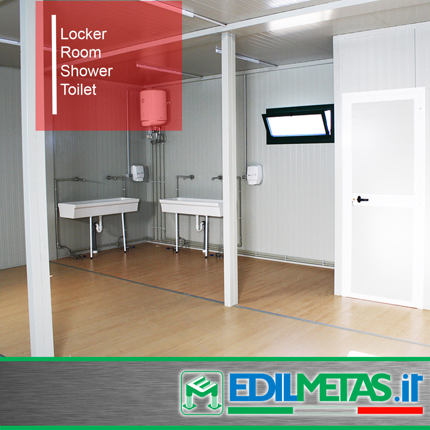prefabricated locker shower and toilet