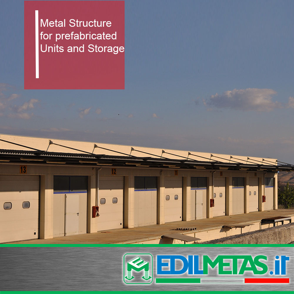 metal prefabricated unit for load storage