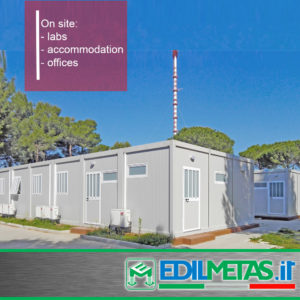 Prefabricated accommodation, nursery, offices