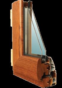 profilo infissi legno-alluminio modello emblema