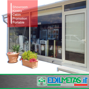 Prefabricated showroom kiosk, cabin, promotion, portable