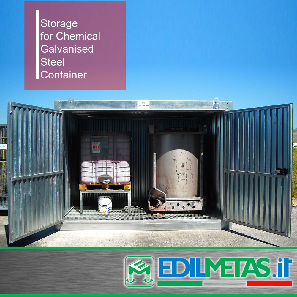 Storage for chemical galvanised metal steel sheet