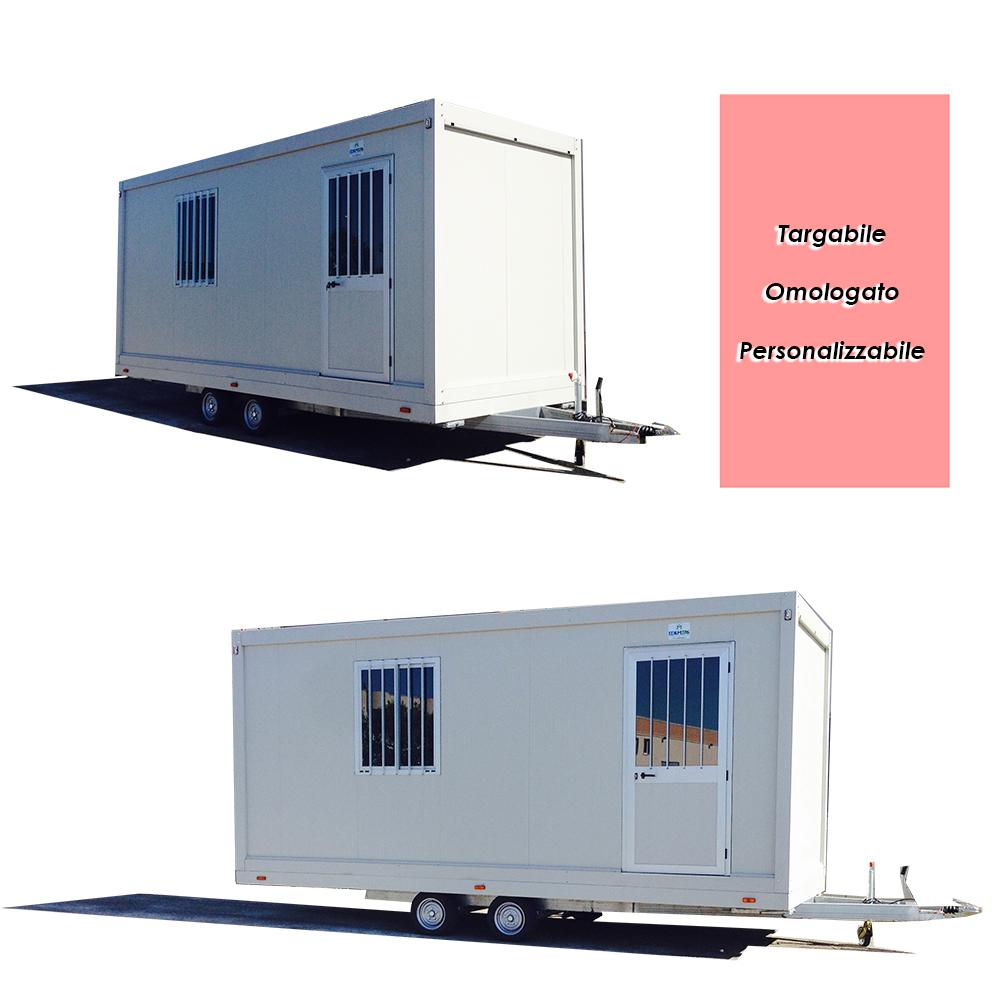 Casa mobile rimorchio monoblocco su ruote prefabbricato coibentato - Casa mobile su ruote ...