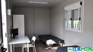 Alloggi prefabbricati container con servizi igienici, dormitori prefabbricati