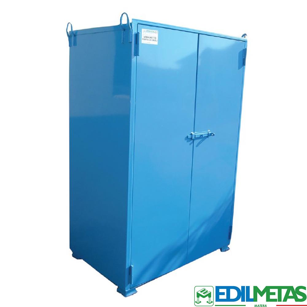armadio porta attrezzi lamiera cantiere