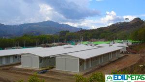campo prefabbricato alloggi e mense per cantiere
