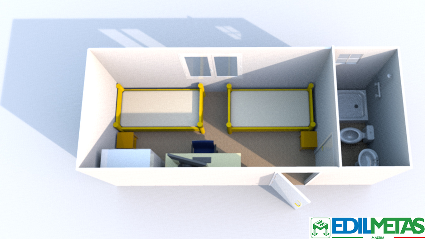container alloggio prefabbricato