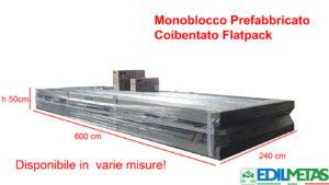 Prefabbricato in versione smontata flatpack in container coibentato