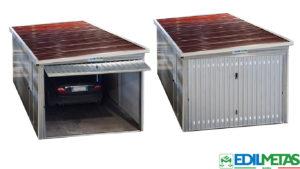 garage prefabbricato in kit con basculante