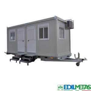 casa ufficio mobile su ruote roulotte omologata e targabile